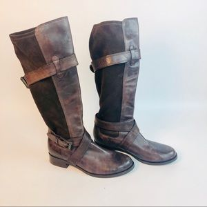 Come Haan Nike air buckle brown riding boots 9